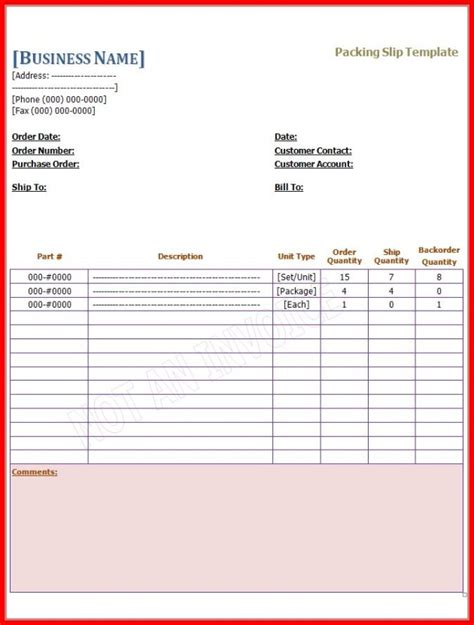 blank packing slip template helloalive