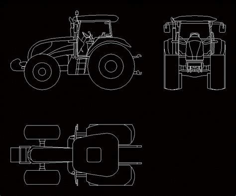 tractor landini    dwg plan  autocad designs cad