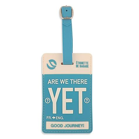 are we there yet bathroom scene flight 001 quot are we there yet quot luggage tag bed bath beyond