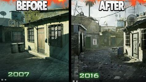 quot modern warfare remastered quot before and after images modern warfare gameplay