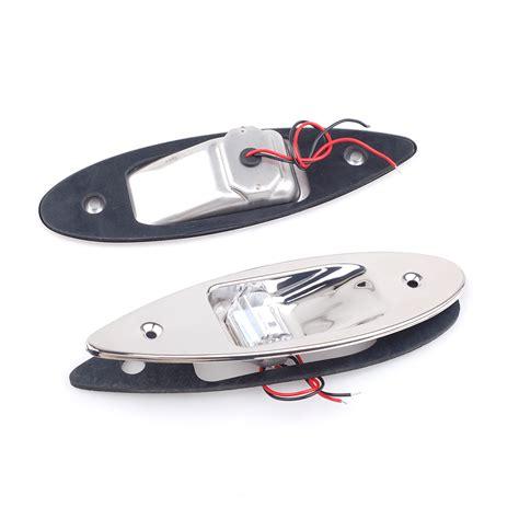 boat navigation side lights pair of marine boat led side navigation lights red green