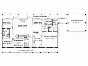 4 Bedroom Single Story House Plans by Eplans Ranch House Plan Single Story Southern Beauty
