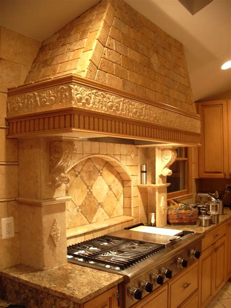tuscan tile backsplash home design ideas pictures