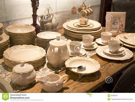 dinner tableware delicate porcelain tableware stock images image 35359024