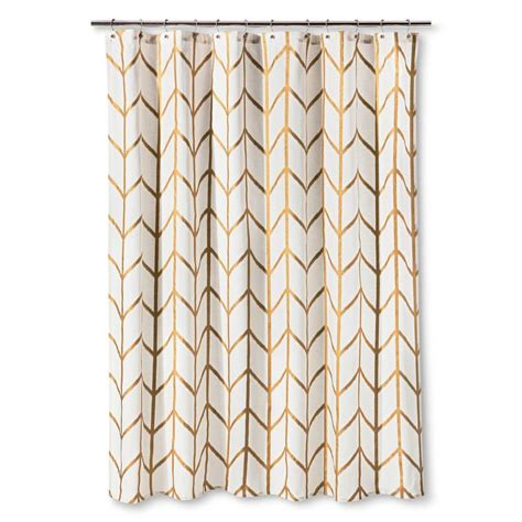 gold and white chevron curtains shower curtain gold ikat threshold hooks gold