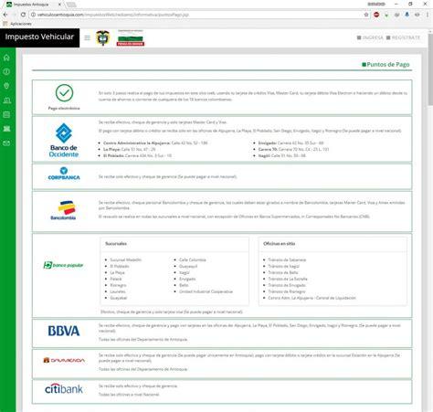 impuesto vehicular gobernacion de antioquia pagos 2018 impuesto vehicular antioquia