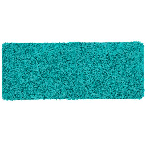 memory foam shag rug lavish home shag seafoam 24 in x 60 in memory foam bath mat 67 19 sf the home depot