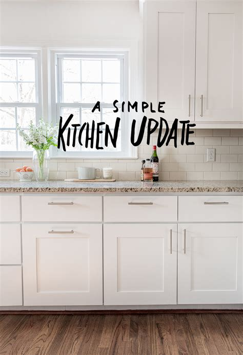 easy kitchen update ideas a simple kitchen update fresh exchange