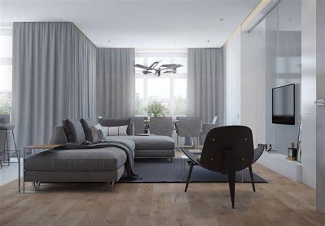 Exceptionnel Peinture Grise Pour Cuisine #8: couleur-gris-appartement-salon-rideaux-gris-canape-angle-gris-clair-tapis-gris-fonce.jpg