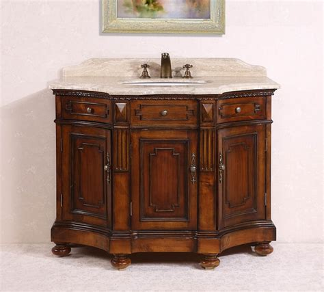 brown bathroom vanity 48 inch single sink bathroom vanity in medium brown