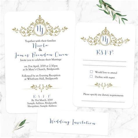 wedding rsvp wording sles royal monogram boutique wedding invitation rsvp