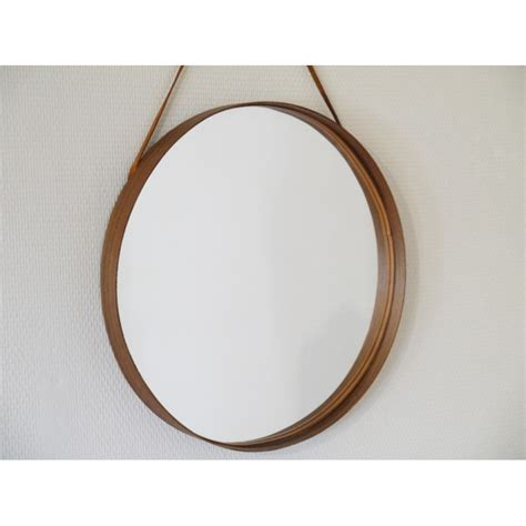miroir rond cadre bois myqto