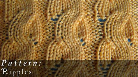 cable pattern knit youtube ripples knit pattern broken cable youtube