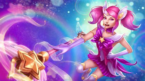 league  legends lux girl magic warrior adventure art