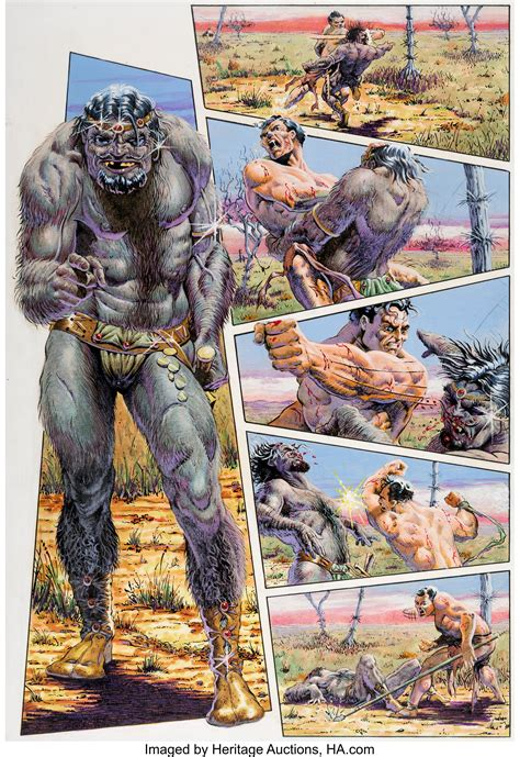 tim conrad epic illustrated  almuric story page