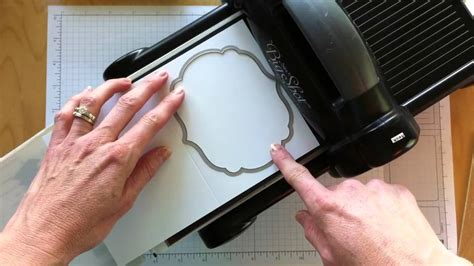 How To Make A Paper Cutting Die - how to emboss using the framelits and big die cutting