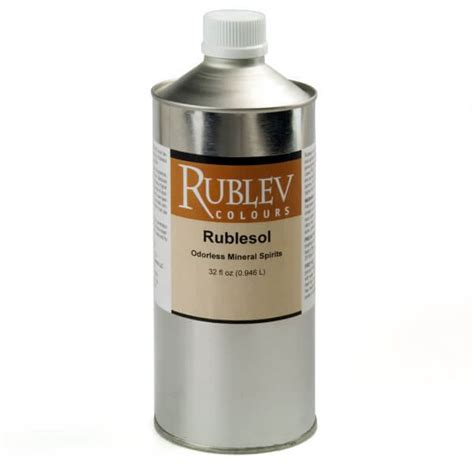 Rublesol Odorless Mineral Spirits Oil Painting Mediums