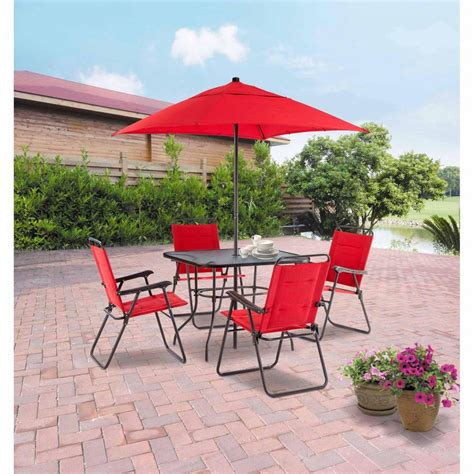 Patio Table Umbrella Walmart Furniture All Weather Garden Furniture All Weather Resin Wicker Patio Patio Chairs Clearance