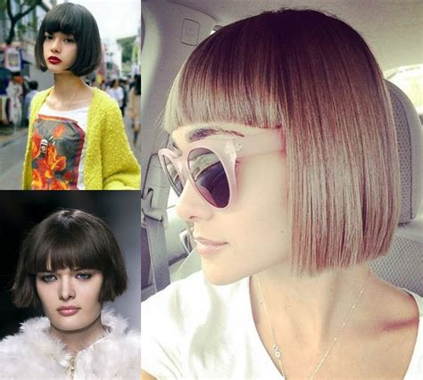 haircuts blunt bangs classy blunt bob hairstyles with bangs hairdrome com