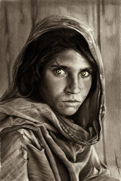 Sketches Realistic by Best 25 Afghan Ideas On Steve Mccurry