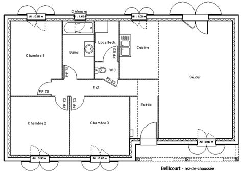 Exemple De Plan De Maison 3334 by Mod 232 Le Et Plans Bellicourt Du Constructeur Maisons Ldt