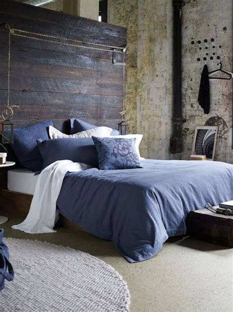 indigo blue bedroom urbnite indigo duvet cover oversized headboard
