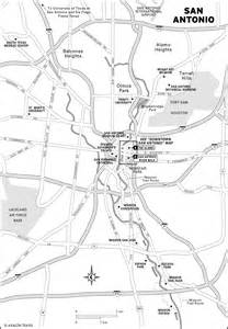 san antonio in map san antonio tourist map san antonio mappery