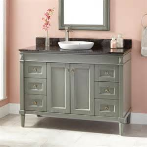 grey wood bathroom vanity 48 quot chapman vanity for semi recessed sink gray