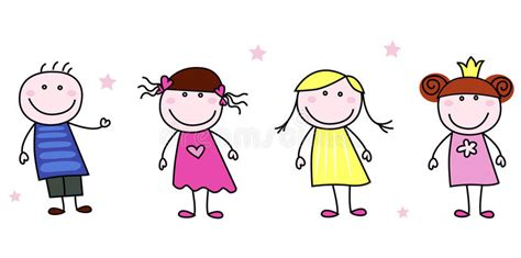 doodle do children s clothing stick figures doodle children characters stock vector