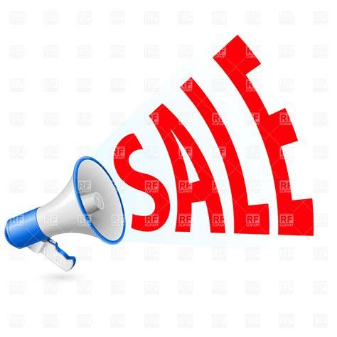 art of sale sale megaphone vector image vector artwork of objects