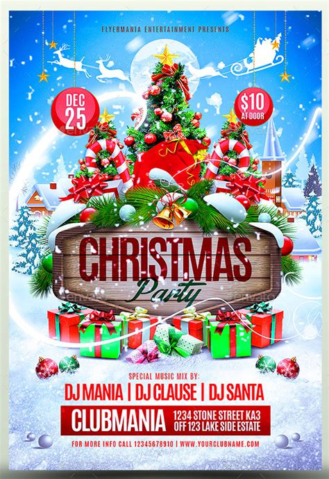 25 Christmas New Year Party Psd Flyer Templates Web Graphic Design Bashooka 12 Days Of Flyer Template