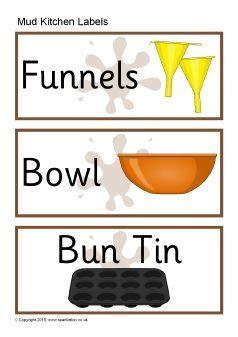 Mud Kitchen Labels Kitchen Labels Mud Kitchen And Mud On