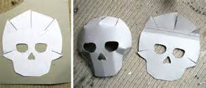 How To Make A Skull Mask Out Of Paper - day of the dead crafts masks