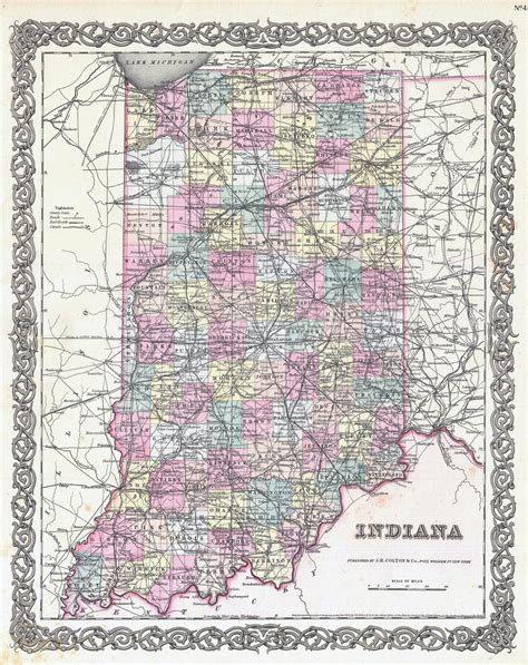 road map of indiana usa large detailed administrative map of indiana state