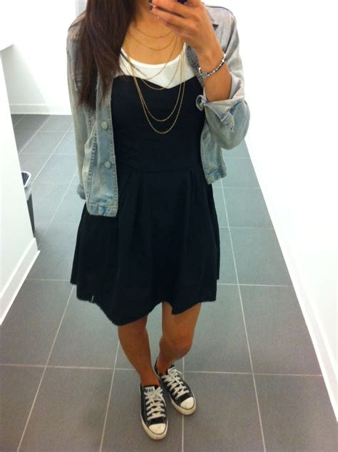 wearing dresses with sneakers the stylish