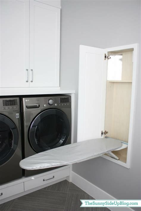 built in ironing board modern laundry room design ideas pictures remodel