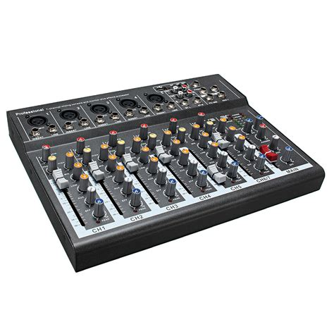 mixer console portable 7 channel professional live studio audio mixer