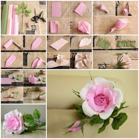 diy beautiful diy beautiful pink crepe paper rose