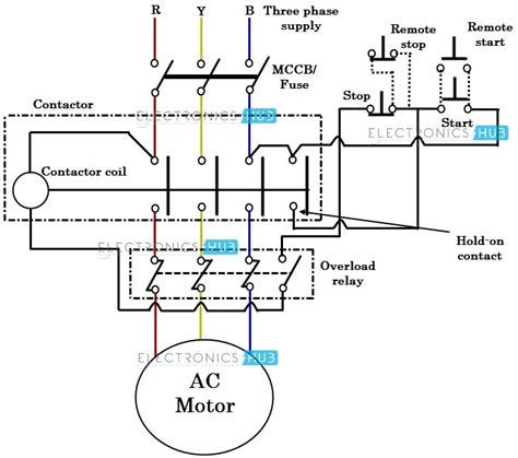3 wire stop start wiring diagram agnitum me 3 phase start stop wiring diagram fuse box and wiring diagram