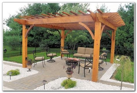 Free Standing Wood Patio Cover Plans   Patios : Home