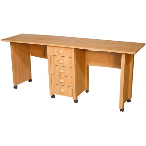 Craft Work Tables by Venture Horizon Dual Desk Mobile Work Center 1019