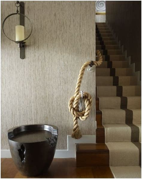 Rope Banister Rail by Creative Rope Handrail Inside The Home