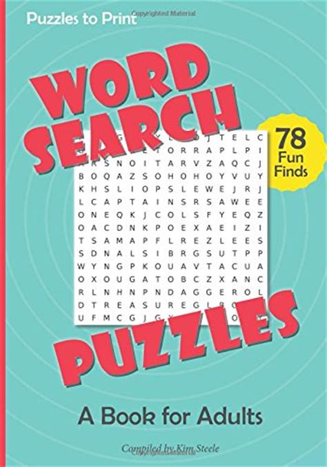 picture puzzle books for adults word search puzzles a book for adults media books non