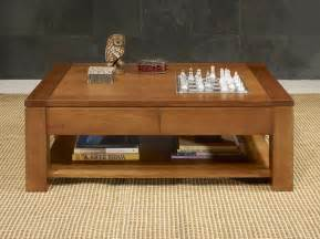 table basse en ch 234 ne massif ligne contemporaine finition