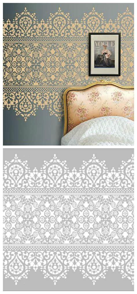 Bedroom Wall Stencil Designs Best 25 Diy Stenciled Walls Ideas On Stencil Walls Stencil Wall And Wall