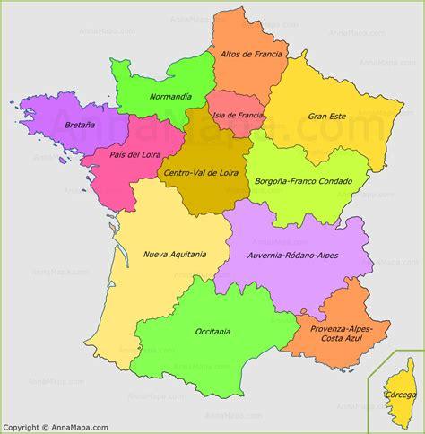 imagenes satelitales de francia mapa de las regiones de francia annamapa com