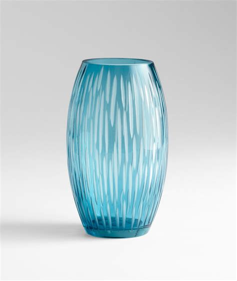 Blue Glass Vase by Small Klein Blue Glass Vase By Cyan Design