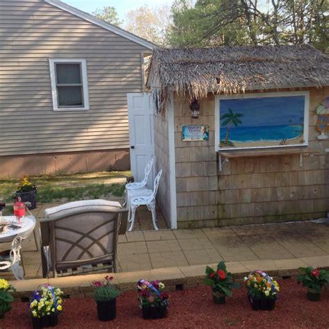 tiki hut shed shed turned into tiki bar and patio tiki bar pinterest