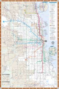 Chicago Rail Map by Chicago Detailed Rail Transport Map Mapsof Net