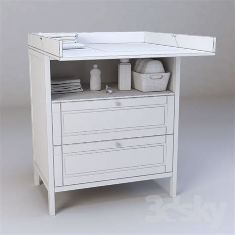 Sundvik Changing Table 3d Models Miscellaneous Ikea Sundvik Changing Table